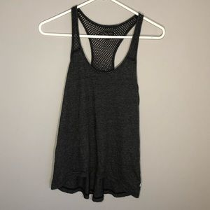 Vans Women's Dark Gray Net Racerback Tank Top S